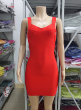 Women winter sexy spaghetti strap backless celebrity bandage dress night club party mini dress
