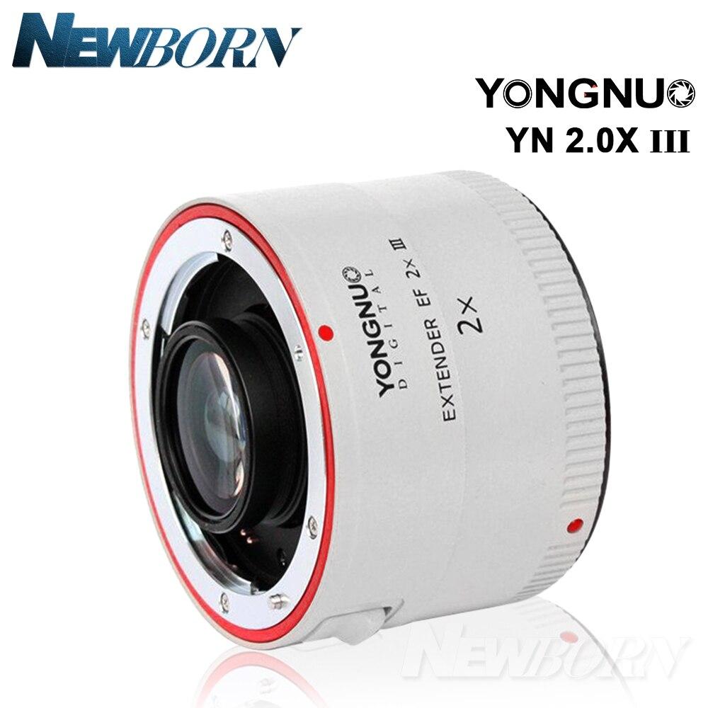 Yongnuo YN-2.0X III PRO 2x Téléconvertisseur Extender Auto Focus Monture Camera Lens pour Canon EOS EF Objectif