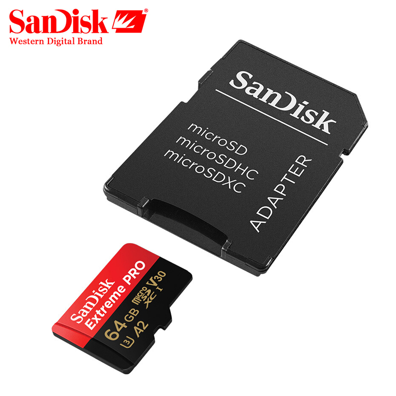 Sandisk Extreme Pro Card 64gb 128gb Max Speed Reading 170mb S A2 V30