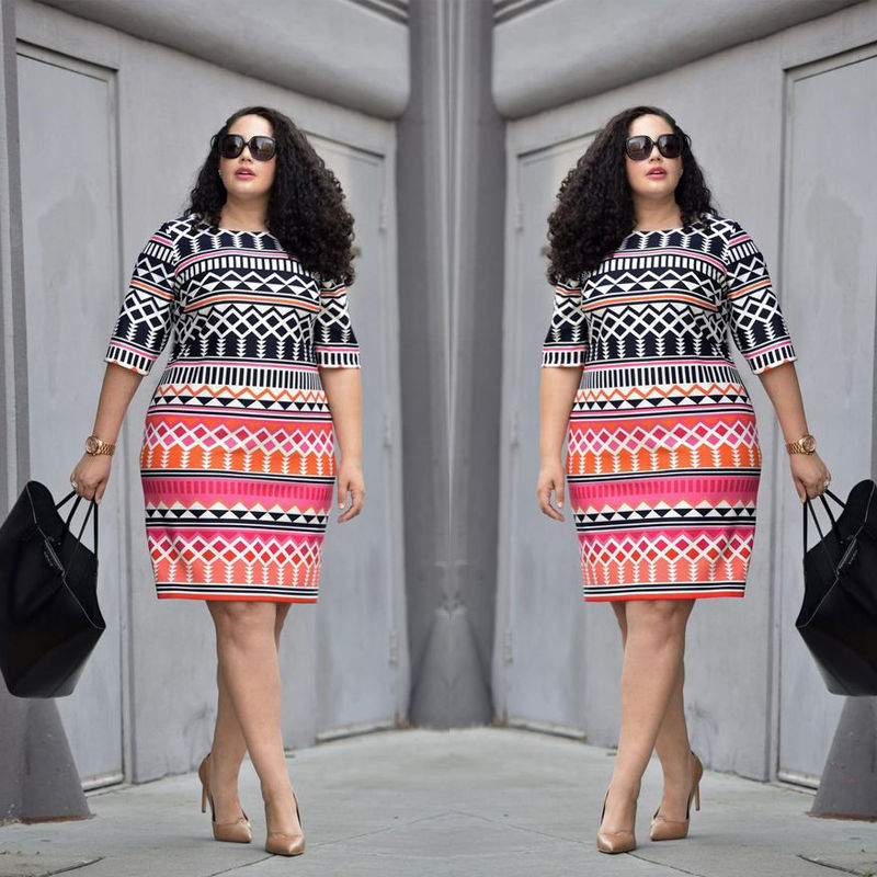 8ed4e6b4542 UK Women Lady Bodycon Dresses Plus Size Ladies Clothing Party Dress Big Size  10 22-in Dresses from Women s Clothing on Aliexpress.com