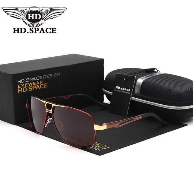 Nova Mais Recente Alta Qualidade Homens Polarizados Condução Ocasional de Lazer óculos de Sol Proteção UV400 Moda Óculos de Sol com o Pacote