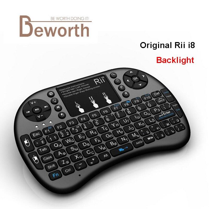 Оригинал Rii i8 + мини 2,4 г Беспроводной Подсветка подсветкой Gaming тачпад Keybaord вс ...