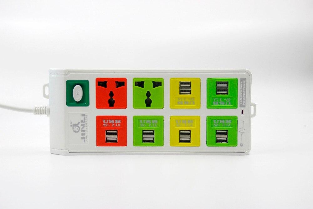 Prise intelligente 2 prises + 12 sorties USB multiprise avec protection contre la foudre - 4