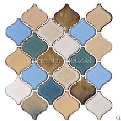 Polished Beige Porcelain Mosaic Kitchen backsplash wall tiles decor,bathroom softly fragrant ceramic lightcolor walltile,LSDL01 мозаика elada mosaic n52 beige long size crystal stone