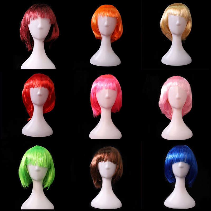 Multi Colors Anime Cosplay Headwear cartoon cosplay wigs Students prom Masquerade Wear Props Cosplay Accessory