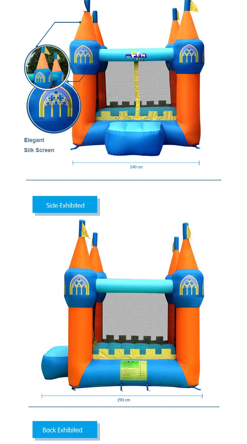 HTB1YzkXPXXXXXaiapXXq6xXFXXXD - Mr. Fun Inflatable Bouncer house Trampoline Inflated Castle Toy with Blower