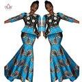 2017 Весна юбка набор африканский дизайн одежды традиционная Базен Riche базен печати плюс размер юбка набор хлопок платье 7xl WY566