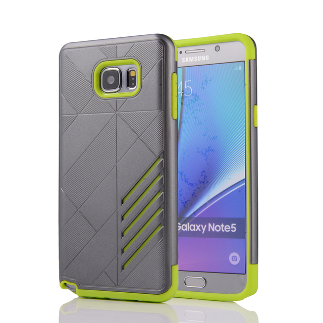 Case For Samsung Galaxy Note 5 Rhombus Combo Case For Samsung Note5 SM-N9200 N920I N920G/A/T/V/K/L/C/S/P N9208 TPU+PU Cases