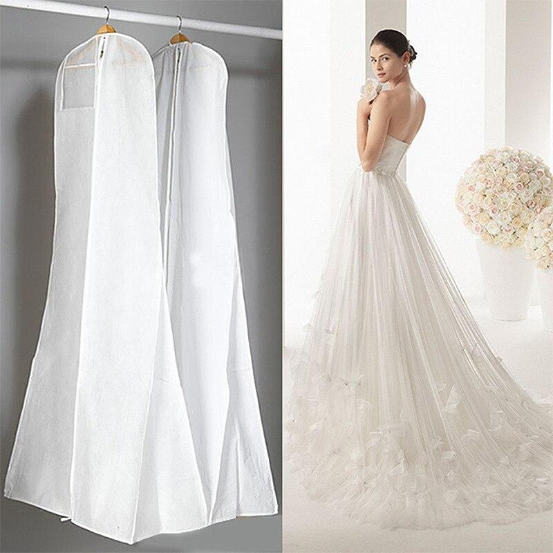 Must valge pulmakleit katab pruudi rõivas pikk riided veekindel - Kodu ladustamise ja organisatsiooni