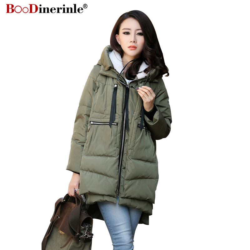Large Size M-5XL Women's Winter Cotton Coat Army Green Zipper Big Pocket Jacket Female Thicken Warm Hooded Outwear Parkas MY169