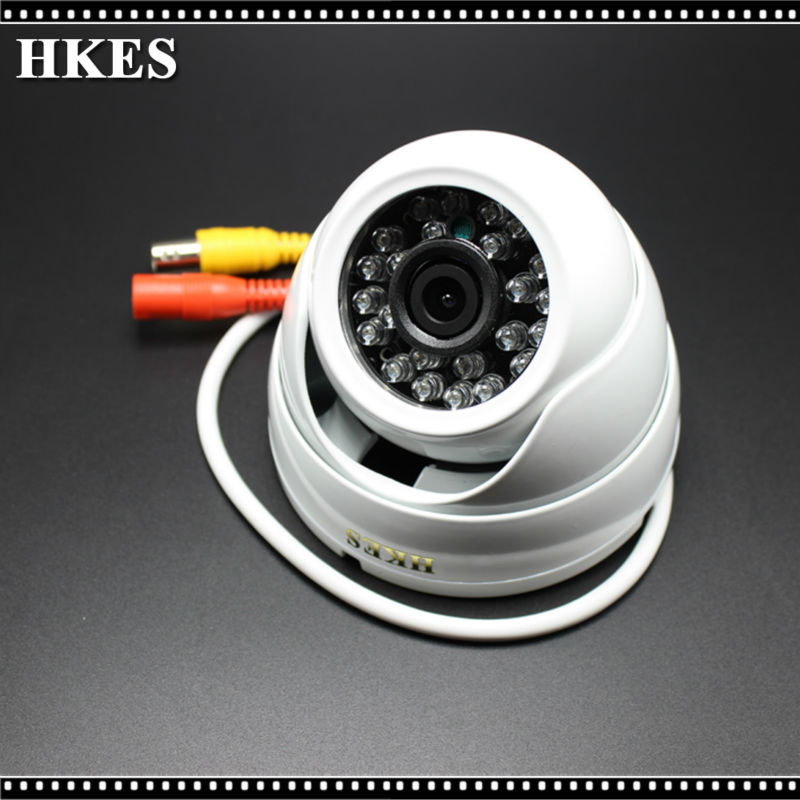 HKES HD 2500TVL Camera Home Security Surveillance CCTV System Outdoor Waterproof IR-Cut Night Vision 24 Led AHD Cam 720P beibehang gold foil wallpaper solid color 3d earthhill gold wallpaper roll hotel ktv wallpaper for walls 3 d papel de parede