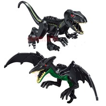 Single sales large Jurassic Dinosaur world Figures Tyrannosaurs Rex Building Blocks Compatible With Legoings Dinosaur Toys цена