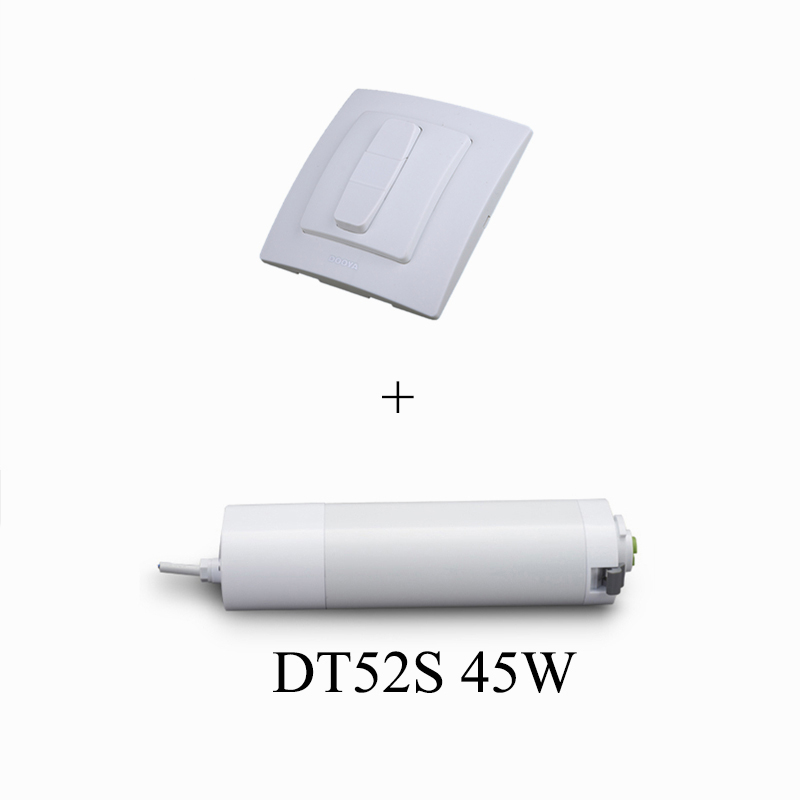 Dooya DT52S Electric Curtain Motor 220V Open Closing Curtain Track Motor 45W/75w +DC59C Mechanical Remote Control Switch