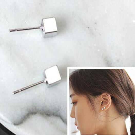 ED 0615 Descendants of the Sun Song Hye Kyo with the square earrings cube geometry Square temperament Japan and South Korea simp