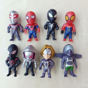 цена 8pcs/lot PVC The Avengers Miniatures Marvel  Action Figures Spiderman Figurines Kids Toys hulk Captain America superman batman онлайн в 2017 году