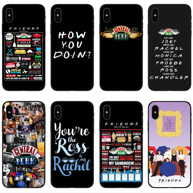 low priced c00f9 2d518 US $2.0 41% OFF Central Perk Coffee friends tv show how you doin Black  silicone Phone Case Cover For iPhone X 5 5s SE 6 6SPlus 7 7Plus 8 8Plus-in  ...