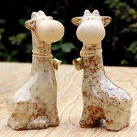 Modern ceramic small decoration fashion animal rustic home decoration crafts ceramic 1pair