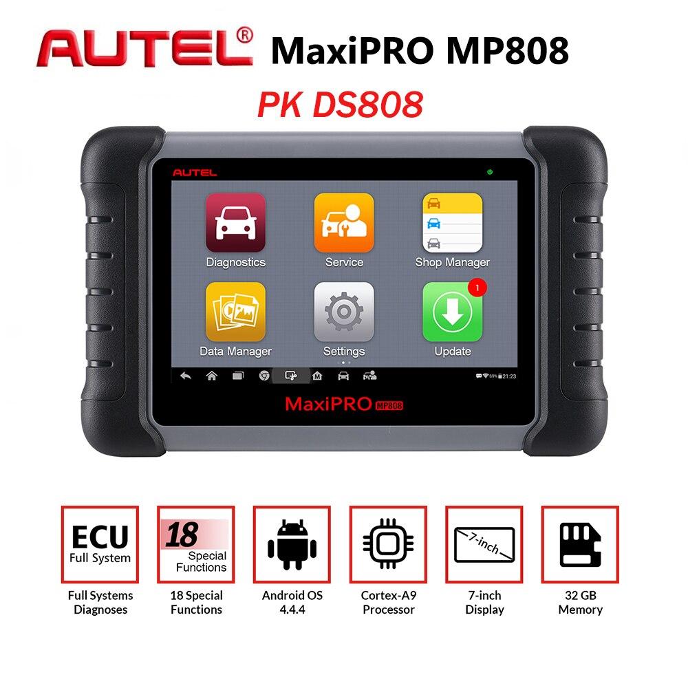 Nova Autel MP808 MaxiPRO Carro Ferramenta de Diagnóstico do Scanner Automotivo Auto o Teste Completo Do Sistema OBD Autoscanner PK Maxisys MS906 DS808