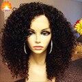 7A Grado Brasileño Rizado Corto peluca Llena Del Cordón Pelucas de Cabello Humano Rizado Bob Pelucas Para Las Mujeres Negras Mejor Guless Corta Rizada Del Frente Del Cordón pelucas