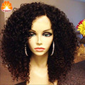 7A Grau Brasileira Cheia do Laço Curto Encaracolado Perucas de Cabelo Humano Cacheados Bob Perucas Para As Mulheres Negras Melhor Guless Dianteira Do Laço Curto Encaracolado perucas
