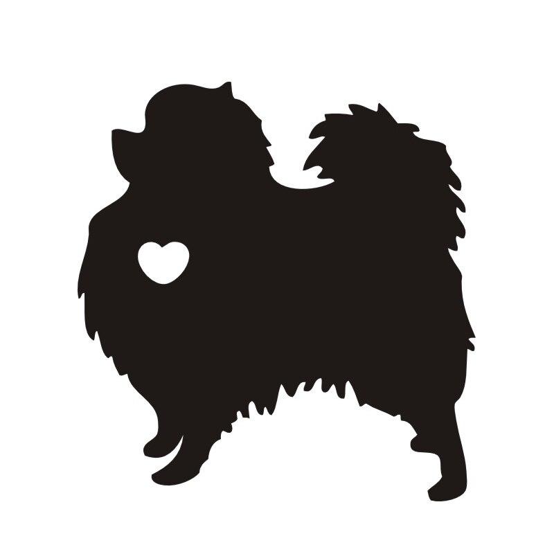 12x11cm I Love My Pomeranian Dog Animal Black/white Dog Car Sticker Waterproof Decals Car Styling Accessories Window Decor CL020