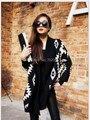 2016 новый Кардиган Плащ Вязание Пальто леди Пончо шаль обертывания Свитер #3635