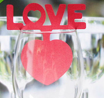 Cheap Wine Glass Cards 20pcs table cards Wine Glass Markers Wedding Cake Toppers guest name card laser Cut Card B026 image