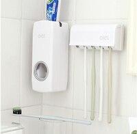 Al por mayor y al por menor accesorios de Baño Establece cepillo de Dientes Titular Dispensador de Pasta de dientes de La Familia establece