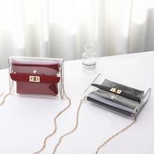 314d17d5c4 Femmes PVC clair sac sacoche sac mode Transparent épaule bandoulière sacs  dames Messenger décontracté Shopping petits