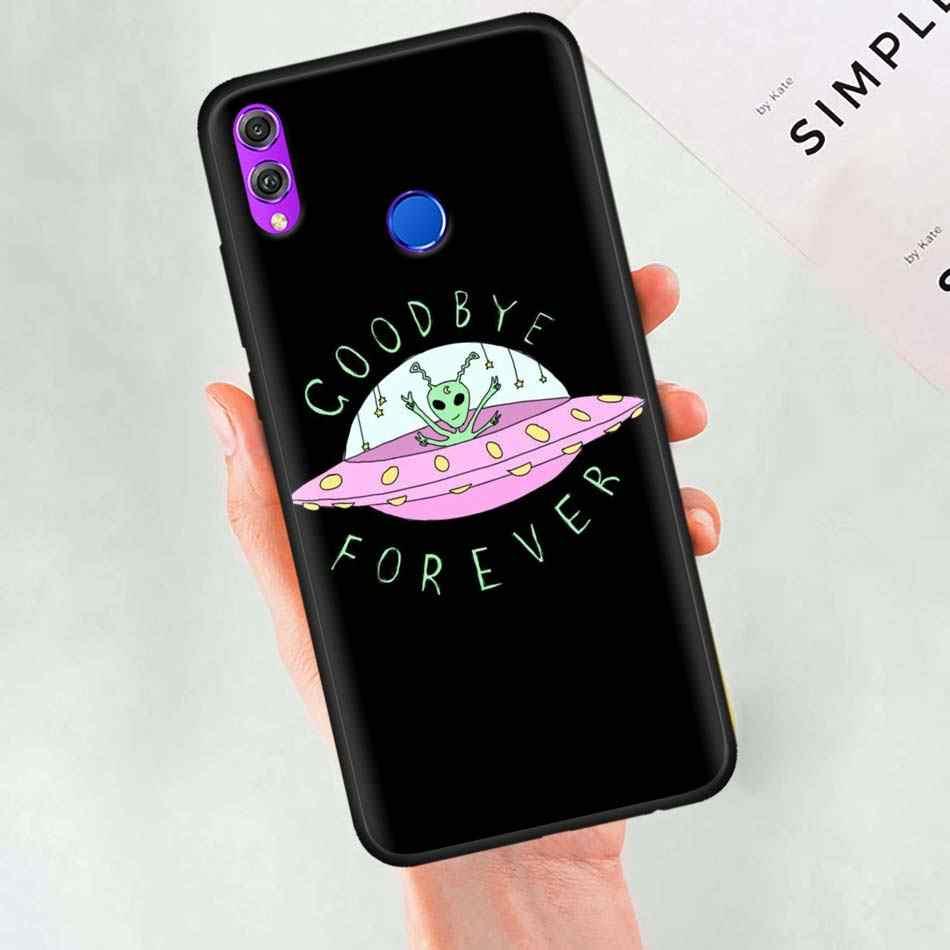 Alien Glauben UFO ET nette Schwarz Silikon Fall für Huawei Ehre 20 Pro 10 20 Lite 20i V20 8X 8C 8A 8 S Spielen Genießen 9e 9 s Fall