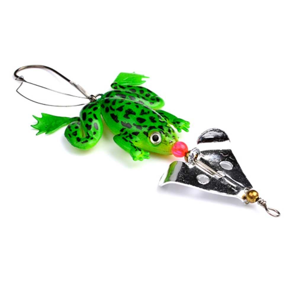 1pcs Rubber Frog Insect Fishing Lures 6g CrankBait Artificial spoon lure  Rotator Fishing Tackle Pesca everything for fishing