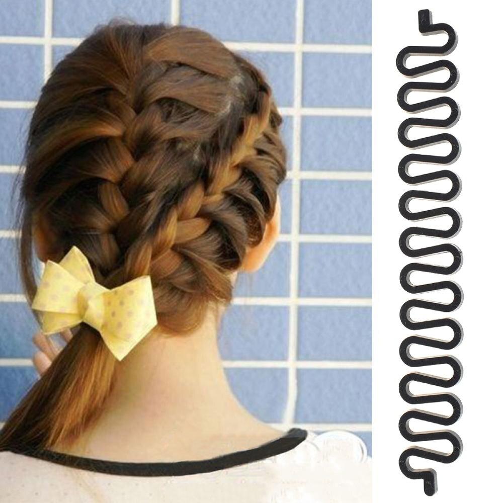 1 adet sihirli fransız örgü saç peruk aracı örgü Braider rulo saç büküm şekillendirici Maker DIY Hairstyling aksesuarları Braider