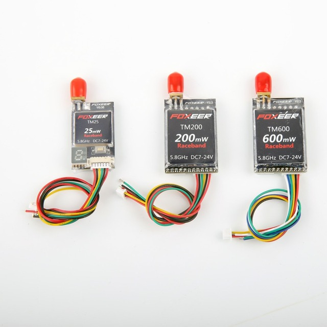Foxeer TM25/TM200/TM600 5.8G Banda Raça 40CH 25 MW/200 MW/600 mW Sem Fio de Áudio e Vídeo A/V Transmissor TX para o QAV Mini Quadcopte