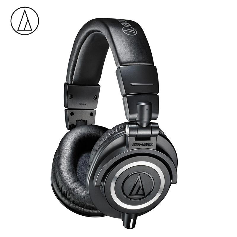 Original Audio-Technica ATH-M50x Professional Monitor Headphones Closed-back Dynamic Over-ear HiFi Headsets Foldable Earphones G