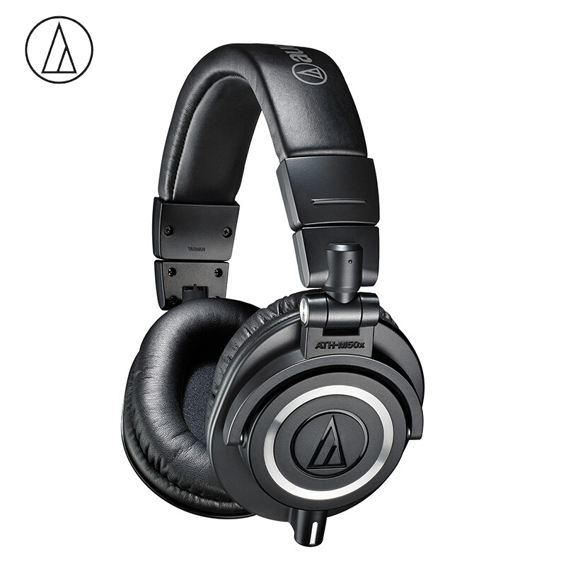 Original Audio-Technica ATH-M50x Professional Monitor Headphones Closed-back Dynamic Over-ear HiFi Headsets Foldable Earphones G image