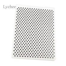 Lychee пластиковая папка для тиснения для скрапбукинга DIY альбом карта инструмент пластиковые шаблонные штампы круглая точка шаблон