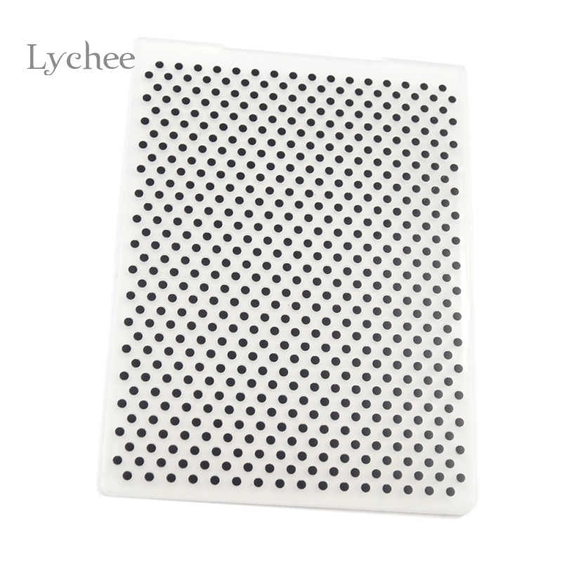 Lychee Leven Plastic Embossing Map Voor Scrapbook Diy Album Card Tool Plastic Template Stamping Ronde Dot Patroon