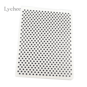 Lychee Life Plastic Embossing Folder For Scrapbook DIY Album Card Tool Plastic Template Stamping Round Dot Pattern