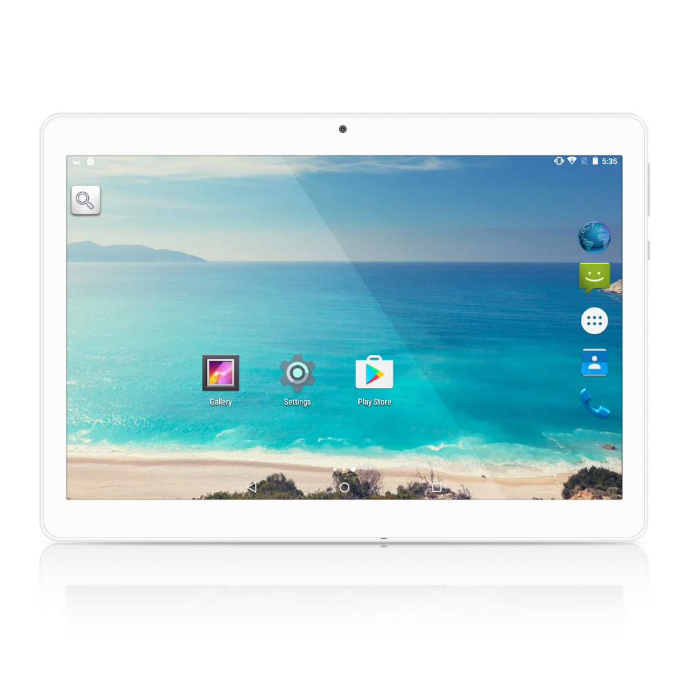 Yuntab alliage d'or K17 10.1inch 3g Tablet Quad-Core Android5.1 écran tactile1280 * 800 smartphone débloqué Bluetooth4.0