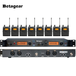 Betagear Wireless Stage Monitoring System SR2050 IEM In-Ear Stage Wireless Monitor System 1 Transmitter 8 Receivers