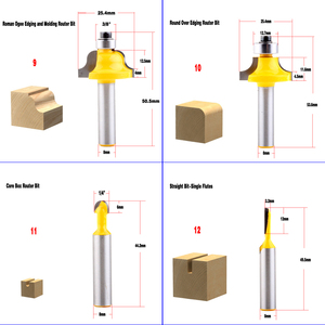 Image 4 - 1pc 8mm Shank wood router bit Straight end mill trimmer cleaning flush trim corner round cove box bits tools Milling Cutte CHWJW