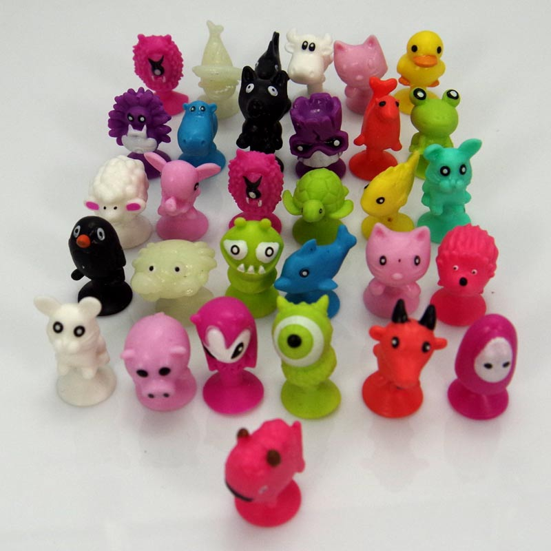50 PCS/bag good Cupule kids Cartoon Animal Action Figures toys Sucker kids Mini Suction Cup Collector Capsule model коляска люлька для кукол brio 24891114
