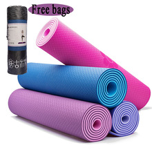 6/8MM Extra Thick Non-slip Foam Yoga Mats Free bags For Fitness Tasteless Pilates Gym Exercise Pads with Yoga Strap 183cmX61cm