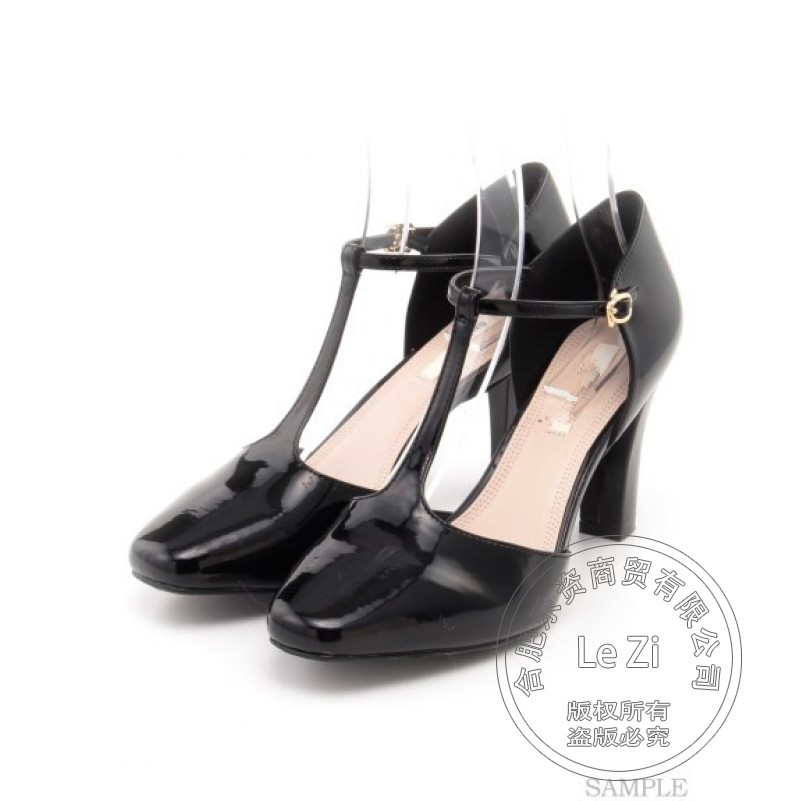 Pu Western Buckle Leisure Round Toe Shoes font b Womens b font High Heels Shoes 2015