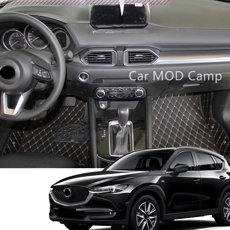 For Mazda CX-5 CX5 2017 2018 Interior Leather Car Floor Carpet Foot Mat Cover Pad 1set Car Styling accessories! for mazda cx 5 cx5 2012 2013 2014 2015 2016 accessories interior leather floor carpet inner car foot mat