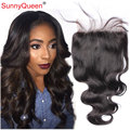 7A Brazilian Virgin Hair 5x5 Lace Closure Bleached Knots Body Wave Lace Closure  With Baby Hair  Top Sunny Queen Hair Products