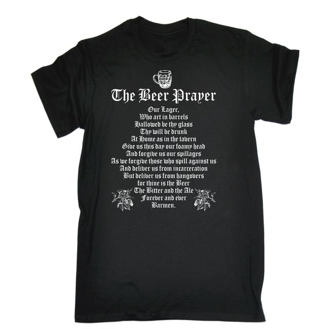 Beer Prayer T Shirt Pub Drinking Drink Party Bbq Funny Birthday Gift Present Cotton Cool