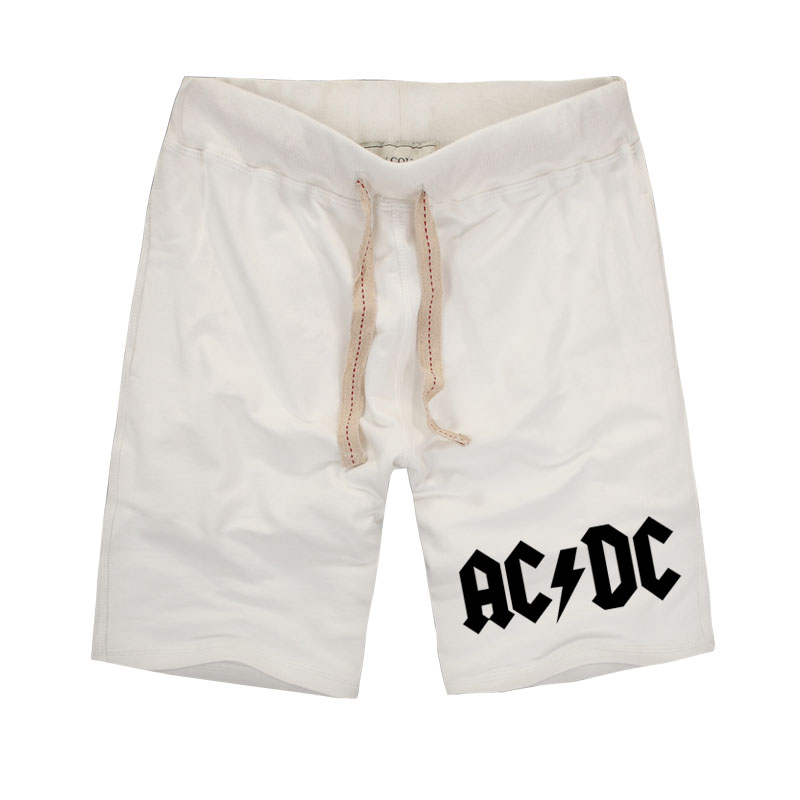 2018 New Brand Men's Casual Shorts with Pocket ACDC Letter Printing Pure Cotton Shorts for Male Workout or Homewear Plus Size