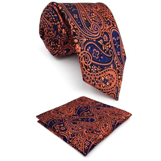 shlax&wing Men's Neckties Yellow Blue Paisley Silk QKqigFc