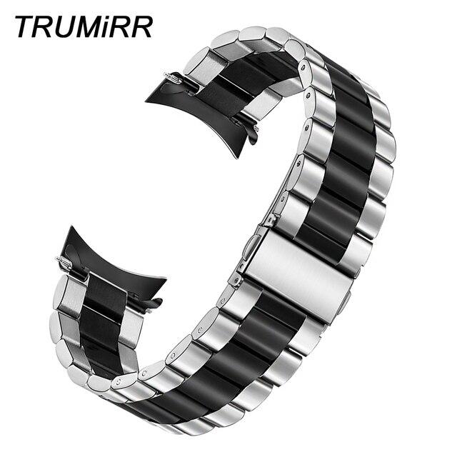 سوار ساعة فريد من TRUMiRR من الفولاذ المقاوم للصدأ + أدوات لدراجات موتو 360 2 46 مللي متر سوار ساعة للرجال لناقلات لونا/ميريديان